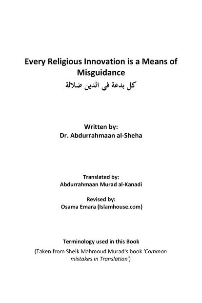 En every innovation is a means of misguidance pdf download pdf book