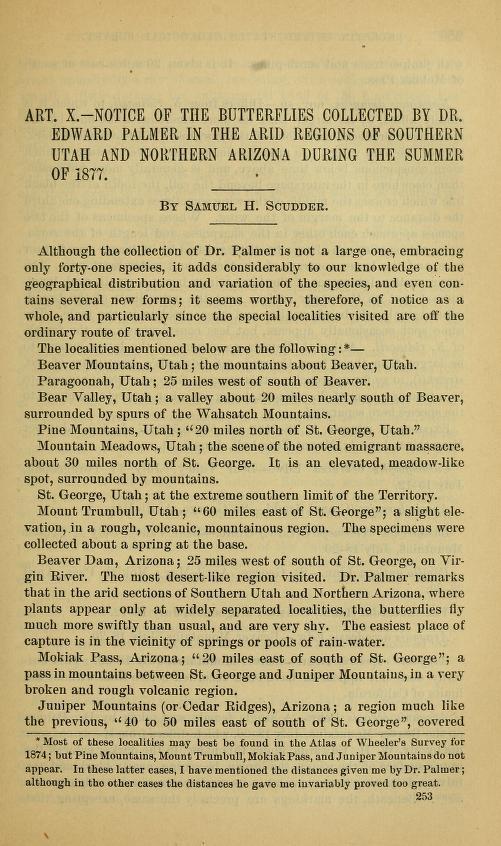 Scudder (1878), Bull. U. S. Geol. Geogr. Surv. Terr. 4(1):253-258