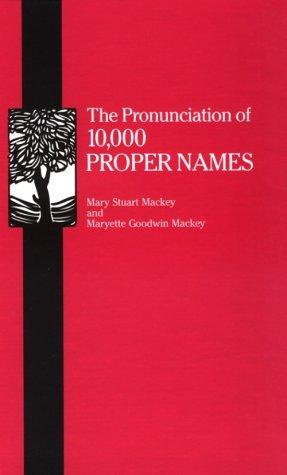 Download The pronunciation of 10,000 proper names