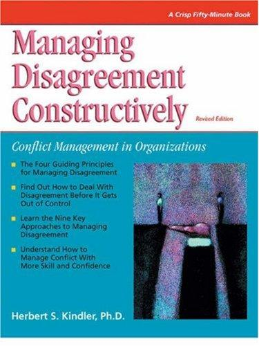 Managing disagreement constructively