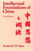 Download The Intellectual Foundations of China