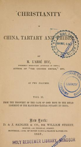 Download Christianity in China, Tartary and Thibet