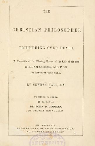 The Christian philosopher triumphing over death.