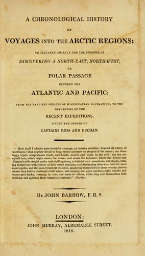 Download A chronological history of voyages into the Arctic regions