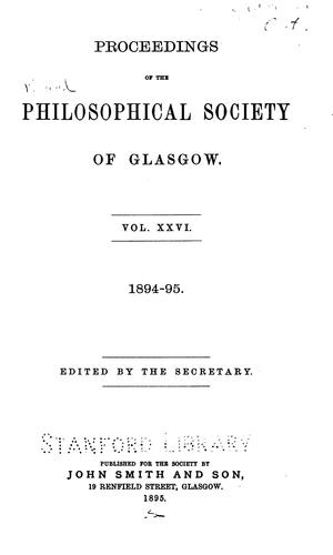 The Royal Philosophical Society of.