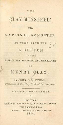Download The Clay minstrel; or, National songster