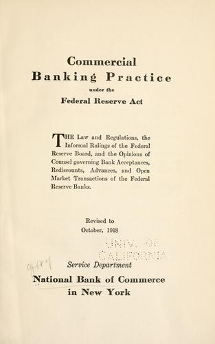 Download Commercial banking practice under the Federal Reserve Act