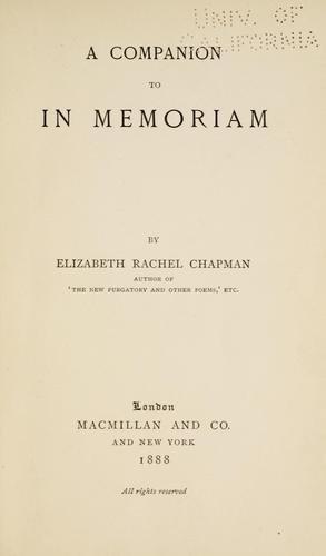 Download A companion to In memoriam
