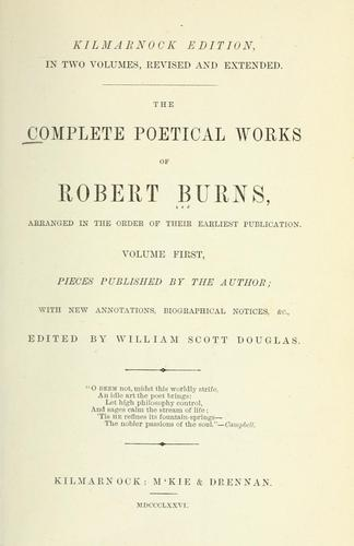 The complete poetical works of Robert Burns by Robert Burns