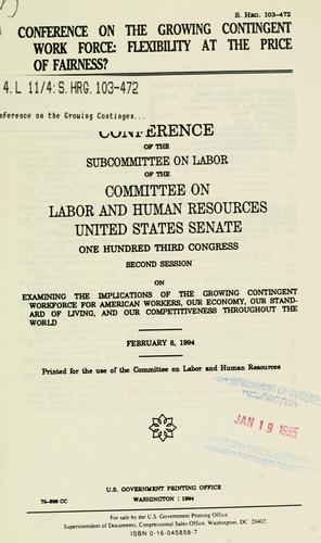 Conference on the growing contingent work force