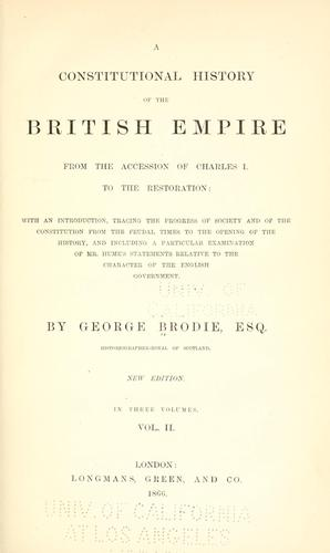 Download A constitutional history of the British empire