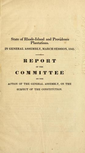 Download The constitution of the state of Rhode-Island and Providence Plantations