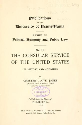 The consular service of the United States