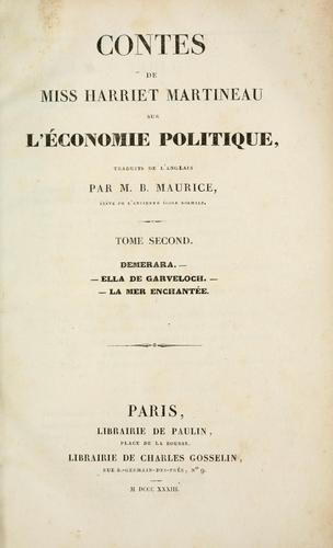 Contes sur l'economie politique.
