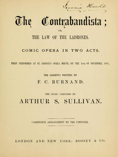Download The Contrabandista, or The law of the ladrones