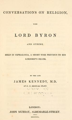 Download Conversations on religion, with Lord Byron and others