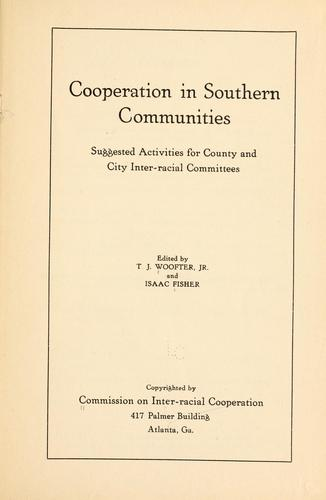 Download Cooperation in southern communities