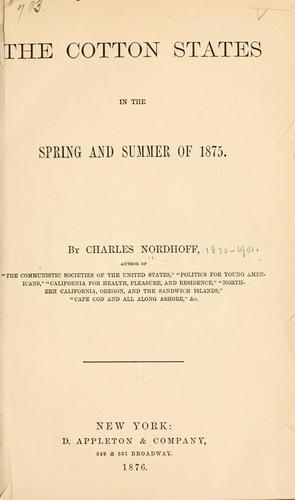 Download The cotton states in the spring and summer of 1875.