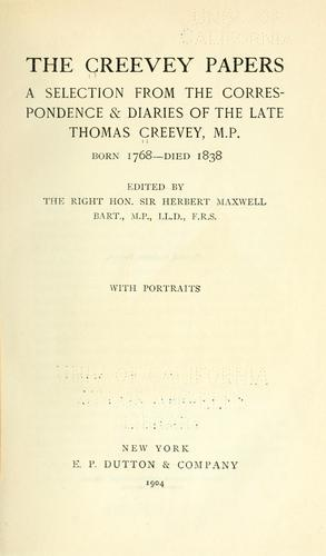 Download The Creevey papers