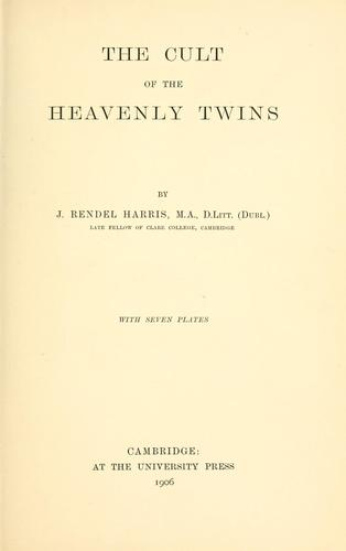The cult of the heavenly twins.