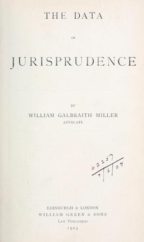 The data of jurisprudence.