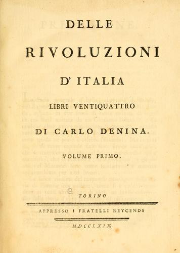 Delle rivoluzioni d' Italia