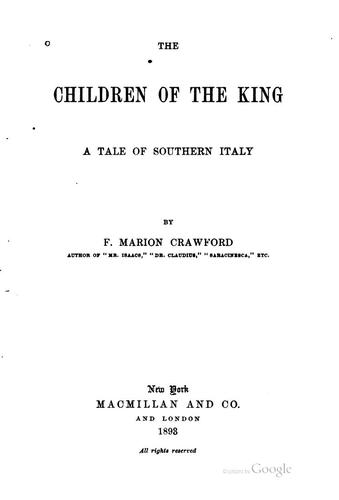 The Children of the King: A Tale of Southern Italy