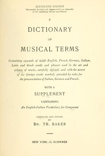 Download A dictionary of musical terms