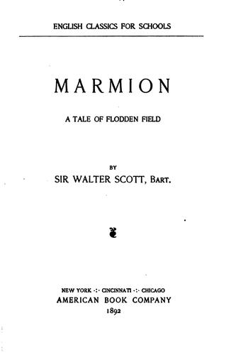 Download Marmion: A Tale of Flodden Field