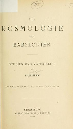 Download Die Kosmologie der Babylonier