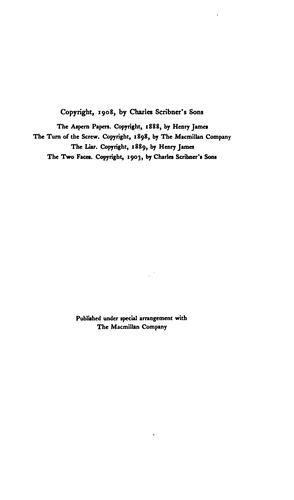 Download The Aspern Papers ; The Turn of the Screw ; The Liar ; The Two Faces