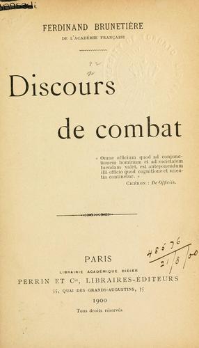Discours de combat.