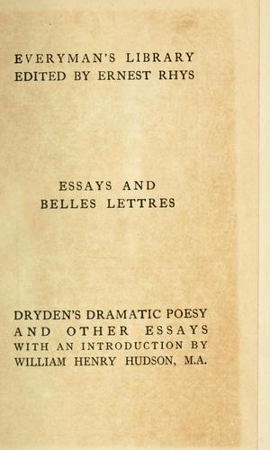 Dramatic essays