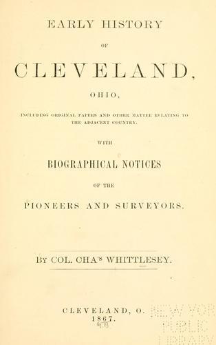 Early history of Cleveland, Ohio