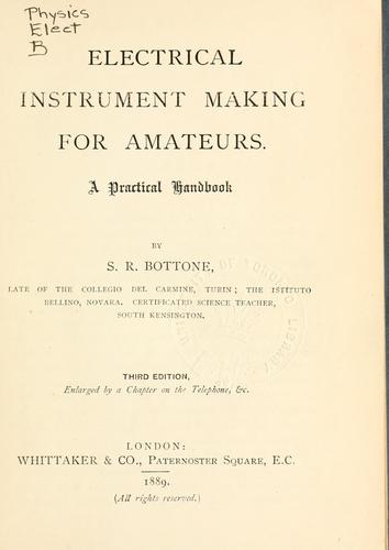 Download Electrical instrument making for amateurs.