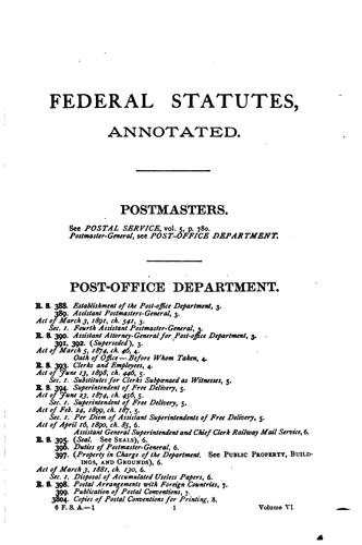 Federal Statutes | Law Library of Congress