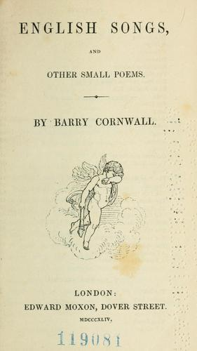 English songs, and other small poems.