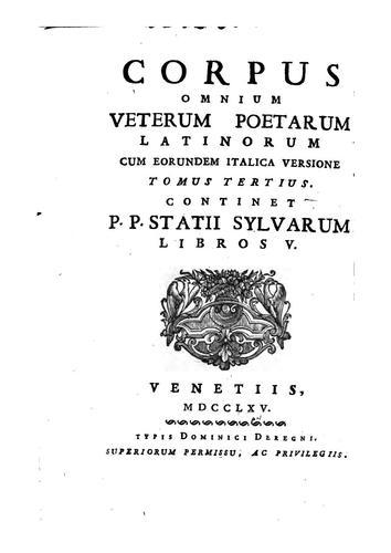 Corpus omnium veterum poetarum Latinorum cum eorumden Italica versione
