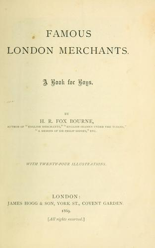 Download Famous London merchants.