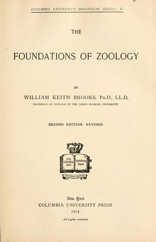 The foundations of zoölogy