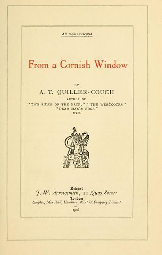From a Cornish window