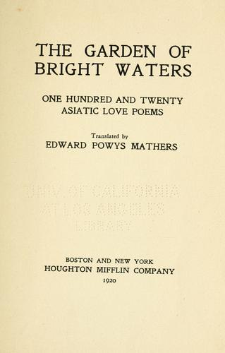 Download The garden of bright waters