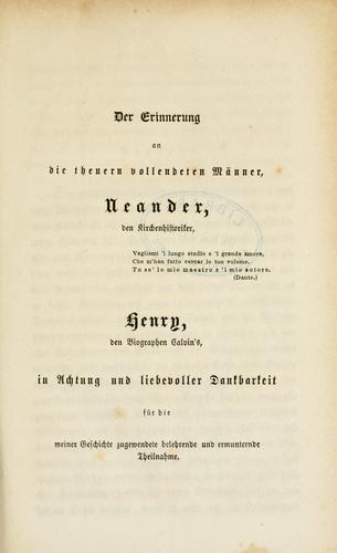 Geschichte des französischen Calvinismus bis zur Nationalversammlung i. J. 1789