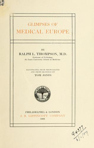 Download Glimpses of medical Europe