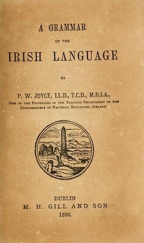 Download A grammar of the Irish language