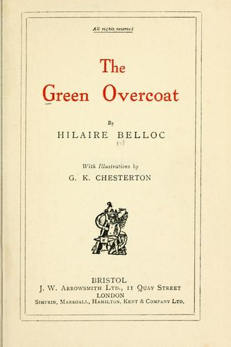 The green overcoat by Hilaire Belloc