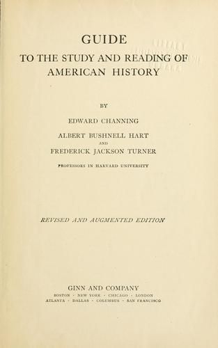 Download Guide to the study and reading of American history