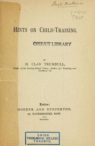 Download Hints on child-training