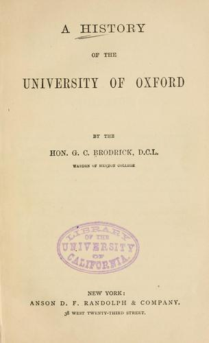 A history of the University of Oxford.