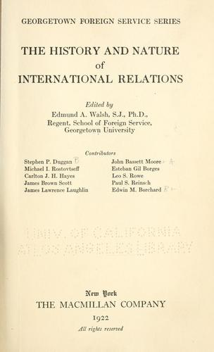Download The history and nature of international relations